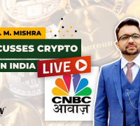 Adv. P. M. Mishra Discusses Cryptocurrency Ban in India & Regulations Live on CNBC Awaaz